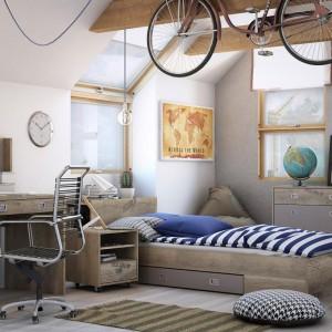 Dzieci szybko rosną, dobrze więc kupić łóżko z kilkunastocentymetrowym zapasem lub takie, które rośnie razem z dzieckiem. Fot. Agata Meble/kolekcja Voyager.