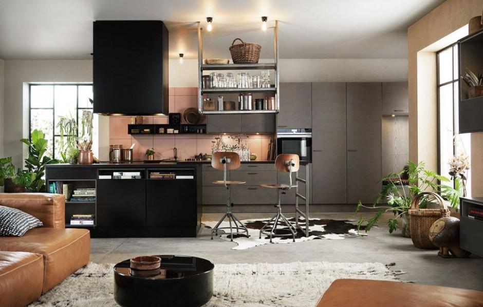 Piękna kuchnia, otwarta na...  Nowoczesna kuchnia w macie. 14 eleganckich propozycji ...