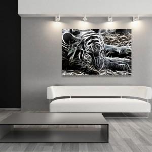 Natura uchwycona nieco inaczej - nie fotografia, a obraz szkicowany graficznymi kreskami. Idealne dopełnienie męskiego, minimalistycznego wnętrza. Oszczędny a zarazem charakterny dekor współgra z konceptualnym designem wnętrza. Do kupienia na stronie Demur, cena od 79,40 zł - w zależności od rozmiaru. Fot. Demur.