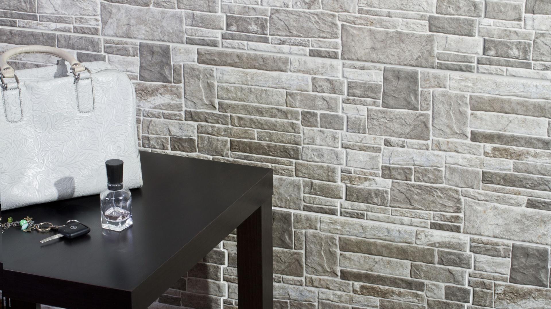 ściana W Salonie Modny Kamień Dekoracyjny