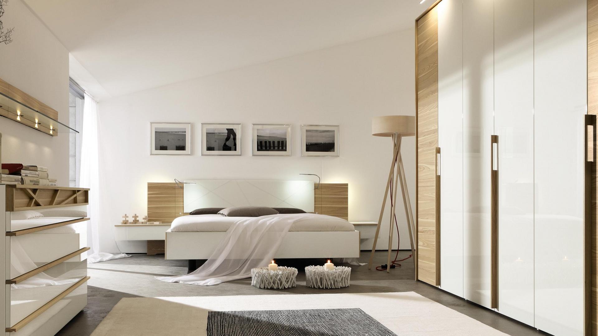 Białe Meble Ocieplone Drewnem Zobacz Propozycje Do Sypialni