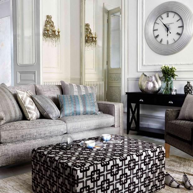 Styl klasyczny: meble, tkaniny i dodatki do salonu