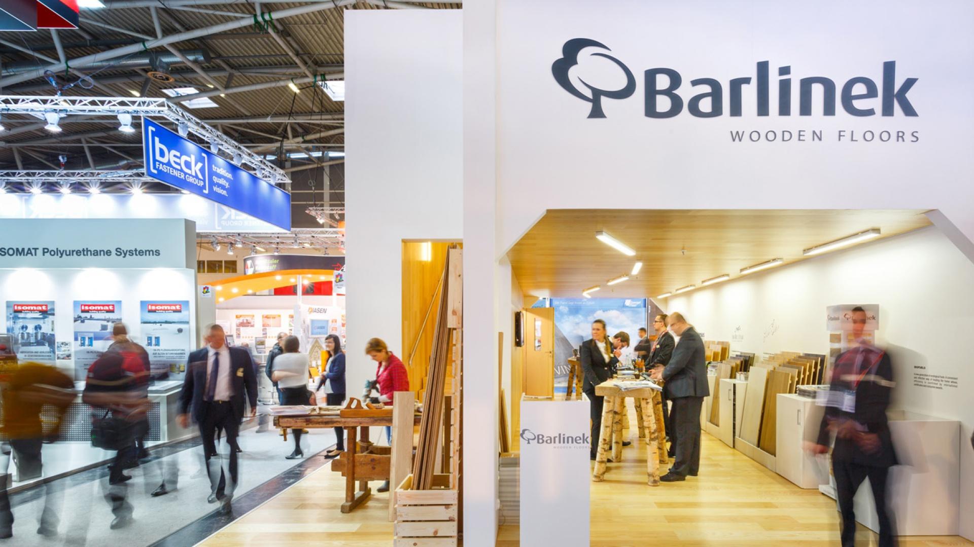 Stoisko firmy Barlinek na monachijskich targach BAU. Fot. Barlinek