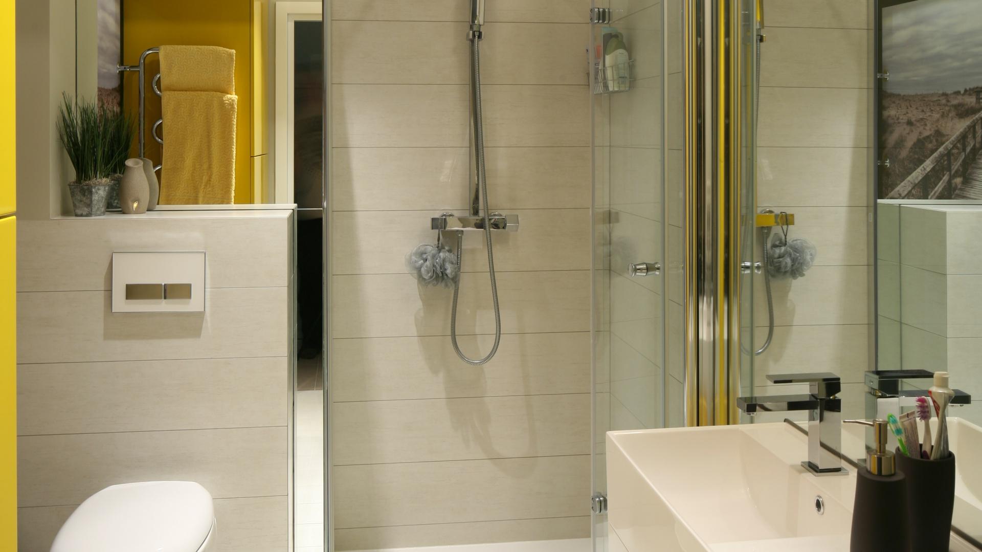 Mała łazienka Sposób Na Prysznic