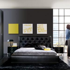 Łóżko Roksana w wersji z pikowanym zagłówkiem. Fot. Black Red White.