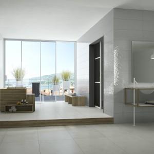 Nuance marki Imola Ceramica to kolekcja białych płytek o szkliwionej powierzchni. Fot. Imola Ceramica.