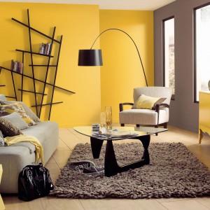 Pomalowanie ścian na żółto to doskonały sposób, by wprowadzić do wnętrza trochę ciepłego słońca, zanim zacznie ono świecić na dobre. Farba Egzotyczne Curry marki Dulux. Fot. Dulux.