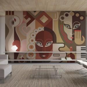 Kubistyczna fototapeta w stylu Picassa dostępna w sklepie Big Trix. Coś dla miłośników sztuki współczesnej. Fot. Big Trix.