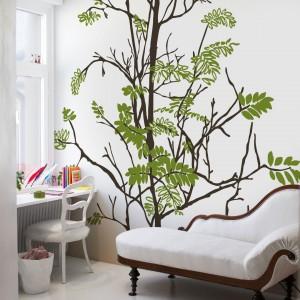 Dekoracja ścienna Teender Tree z kolekcji tapet Urban Nature marki Mr Perswall. Fot. Mr Perswall.