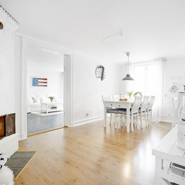 Romantyczne, jasne wnętrze. Zobacz piękne, białe mieszkanie