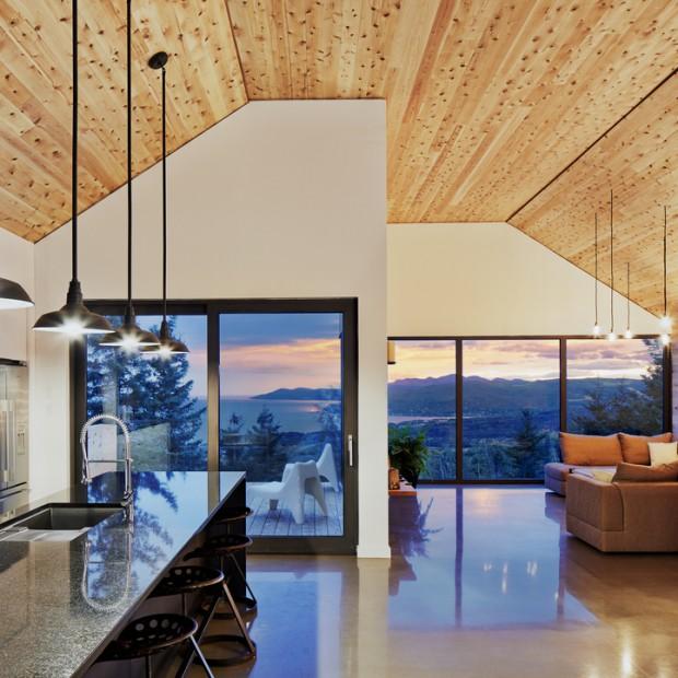 Nowoczesne i przytulne wnętrze w drewnie