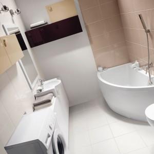 Model Nano Cersanit zaprojektowany z myślą o bardzo małych łazienkach.  Fot. Cersanit.