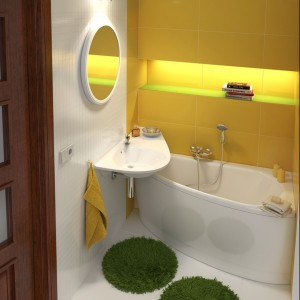 Avocado firmy Ravak to wanna, która zmieści się nawet w najmniejszej łazience. Fot. Ravak.