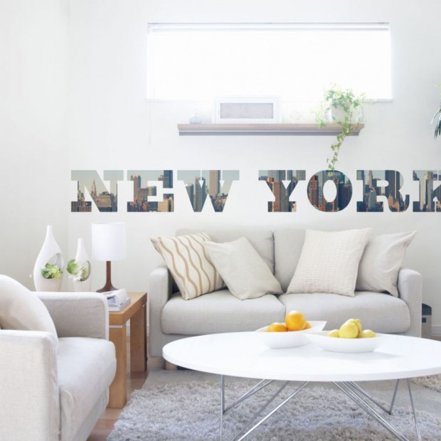 Naklejki - prosty i niedrogi sposób na dekorację ścian w salonie