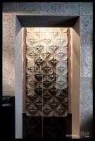Dekoracja w formie betonu 3D, urozmaica wnętrze.