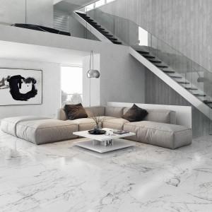 Szarość, to kolor typowy dla minimalistycznego pokoju. Kolekcja płytek Venato marki Pamesa Ceramica jest więc idealna do wnętrz, gdzie mniej znaczy wiecej. Fot. Pamesa Ceramica.