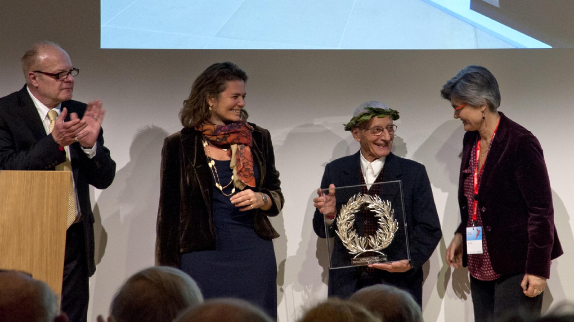 Alessandro Mendini laureatem The European Prize for Architecture. Fot. Clara Buoncristiani