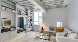 Kiedy właściciel kupiłto mieszkanie w starym Paryżu, było ono jedną, całkowicie pustą przestrzenią. Architekt Tatiana Nicol zmieniła je w piękne, jasne wnętrze.