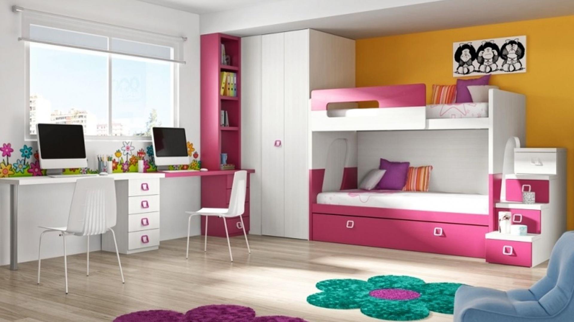 Odrębność przestrzeni...  Mały pokój 2 dzieci. Galeria inspirujących zdjęć