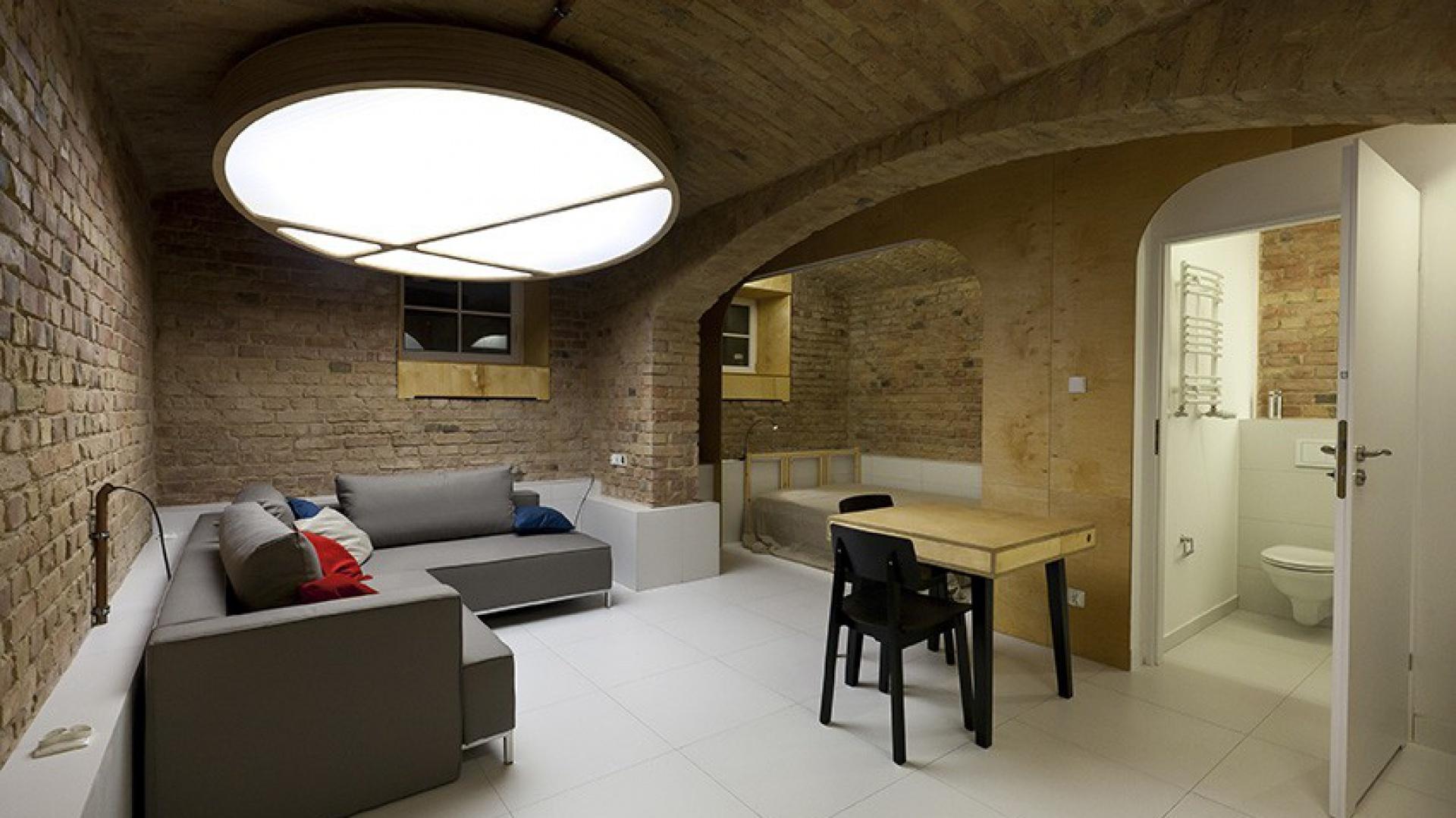 W kategorii Wnętrza prywatne jury Plebiscytu Polska Architektura XXL wybrało mieszkanie w piwnicy autorstwa Mili Młodzi Ludzie. Fot.  Plebiscyt Polska Architektura XXL