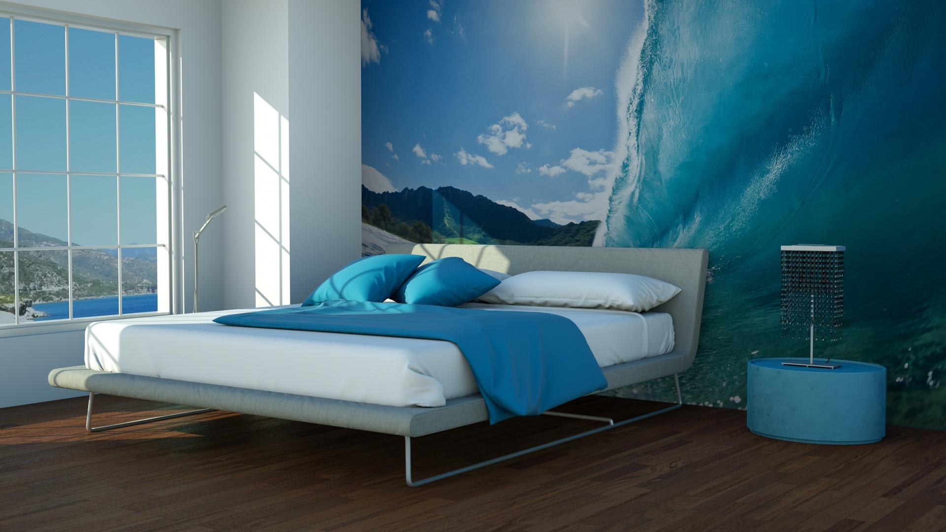 Niebieski We Wnętrzu Pomysł Na Aranżację Sypialni