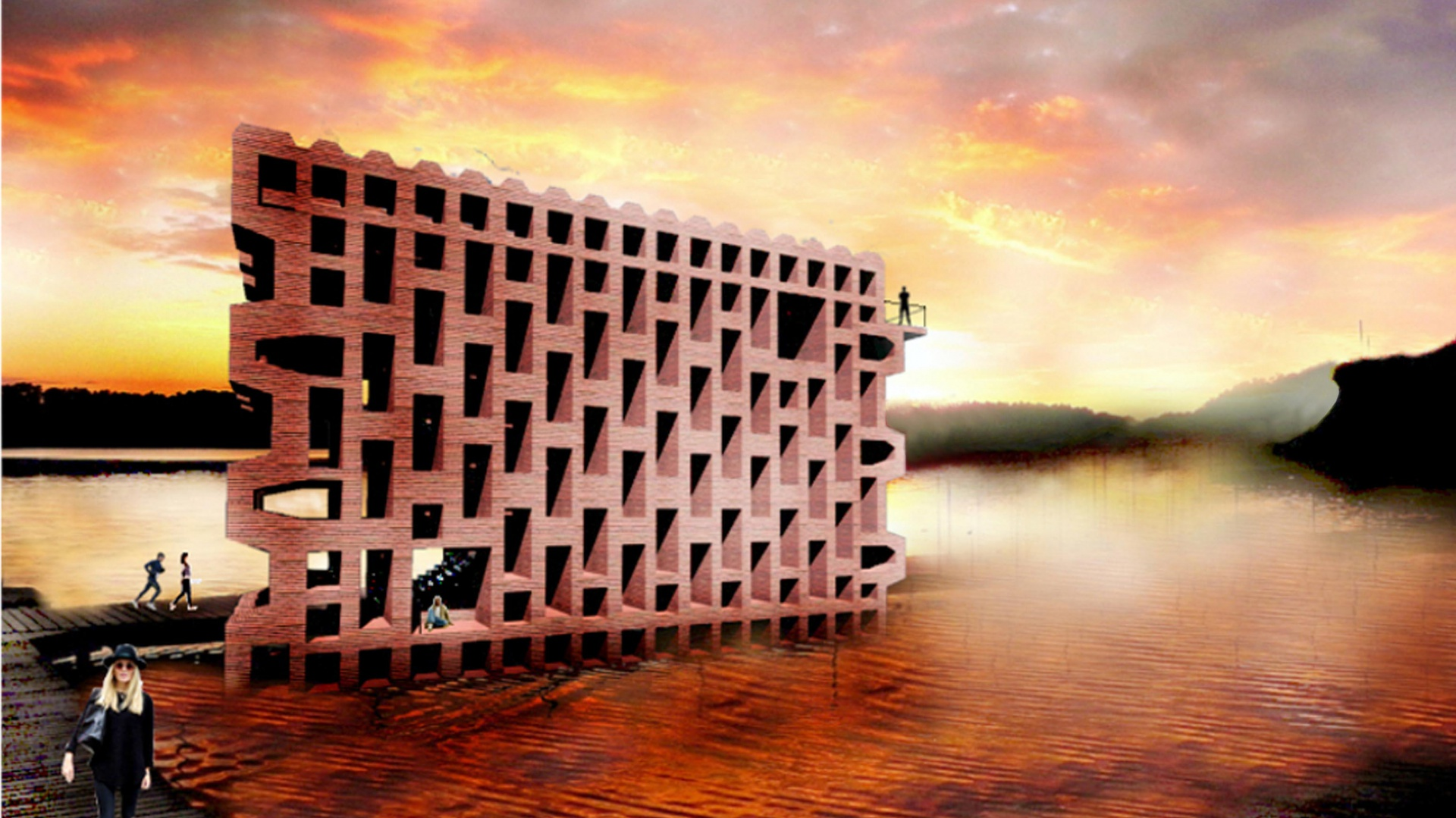 Nagrodę w kategorii Projekt bez realizacji – projekty przygotowane przez studentów kierunków architektonicznych przyznano dla opracowania konkursowego Brick to Heaven, studentek: Justyny Lebiedzik, Martyny Dziurskiej, Karoliny Krupy. Fot. Brick Award