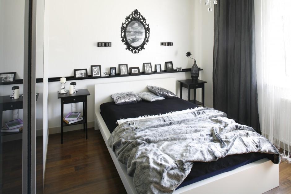 Chociaż sypialnia urządzona...  Sypialnia w szarościach ...