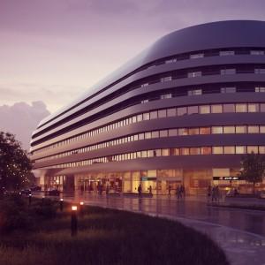 Kompleks OVO we Wrocławiu intryguje swoją architekturą już z zewnątrz. Fot. Wings Properties.