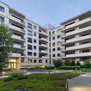 Na warszawskim Powiślu znajduje się kompleks Drewniana 9 - jedno z najbardziej prestiżowych miejsc w Warszawie. Tutaj za luksusowy apartament zapłacimy ok. 5-6 mln złotych. Fot. Nieruchomości Powiśle.