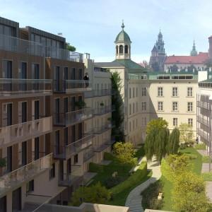 Najdroższym obecnie apartamentem w Polsce jest Apartament Królewski w budynku Angel Wawel z widokiem na Wawel. Cena wywoławcza to ponad 20 mln złotych (5 mln Euro). Zainteresowany jest ponoć biznesmen z Doniecka. Fot. Angel Poland Group.