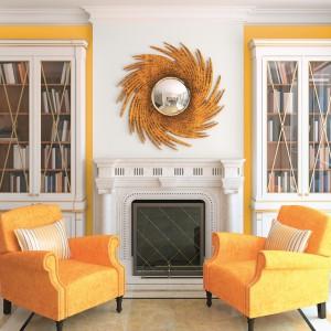 Żółty z bielą doskonale sprawdzi się także we wnętrzach o klasycznym wystroju. Fot. Beckers.