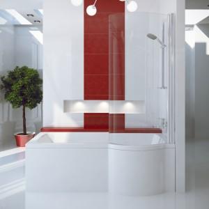 Inspiro to kabino-wanna marki Besco. Półokrągły kształt zapewnia swobodę ruchów podczas kąpieli. Fot. Besco.