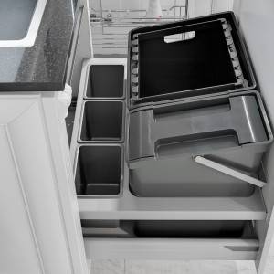 Kosze wstawiane do szuflad Oeko Maxx 600 firmy Peka. Fot. Peka.