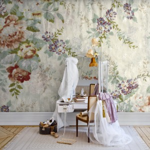 Przeskalowane kwiaty w pastelowych kolorach pomogą zbudować romantyczny nastrój. Fot. Mr. Perswall.