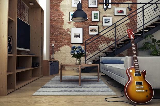 Salon w stylu loft: zobacz nowoczesne wnętrze