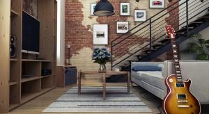Mieszkanie w kamienicy zostało wystylizowane na styl loft.