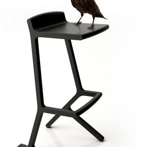 Krzesło barowe hybrid. Prototyp z 2009 roku. Fot. Archiwum Borisa Klimka.