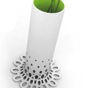 Wazony Twig zaprojektowane przez Klimka na konkurs, którego motywem przewodnim była struktura 3D. Fot. Archiwum Borisa Klimka.