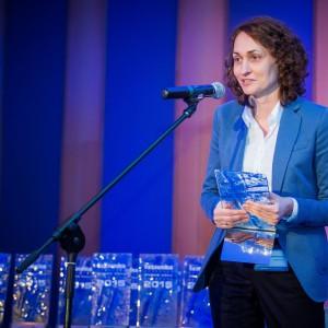 Nagrodę główną w kategorii Wanny odebrała Eliza Antonkiewicz-Wójcik z firmy Kaldewei. Fot. Paweł Ławreszuk.