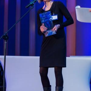 Nagrodę Główną w kategorii Wyposażenie Dla Niepełnosprawnych i Osób 50 + odebrała Hanna Prądzyńska, doradca architekta firmy Hewi oddział w Polsce. Fot. Paweł Ławreszuk.