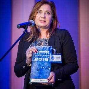 Nagrodę główną w kategorii Armatura Łazienkowa odebrała Honorata Broniowska, przedstawiciel firmy Dornbracht  w Polsce. Fot. Paweł Ławreszuk.