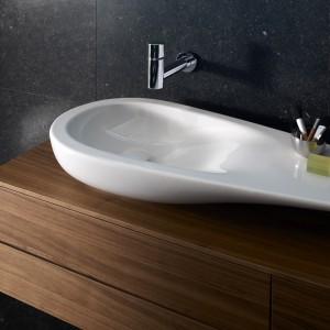 Umywalki Il Bagno Alesii One Extention II firmy Laufen (dystrybutor Roca Polska) to produkt, który zwyciężył w kategorii Wyroby Sanitarne z Creramiki i Innych Materiałów. Fot. Laufen.