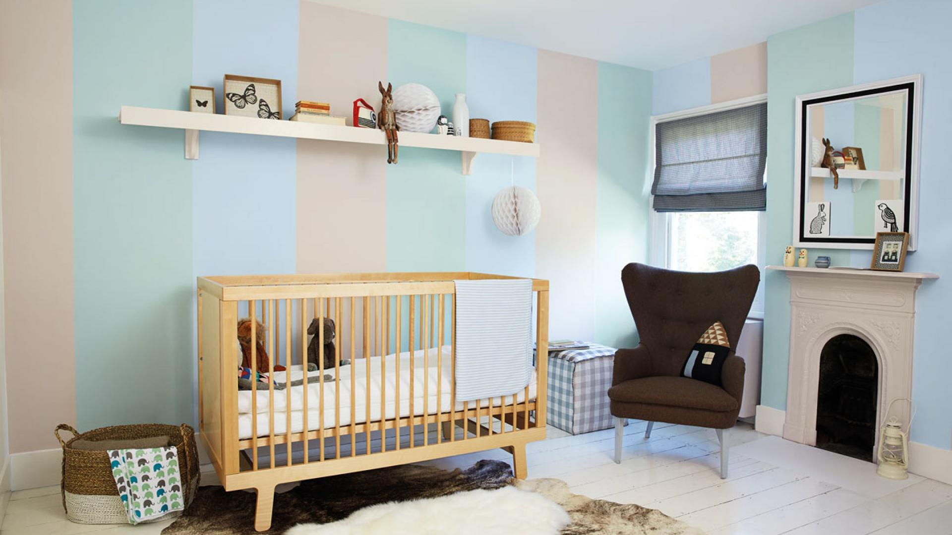 50b8a5c954a3e1 Pokój niemowlaka powinien mieć kolorowy, ale nie nazbyt krzykliwy.  Znakomicie sprawdzi się więc jasny