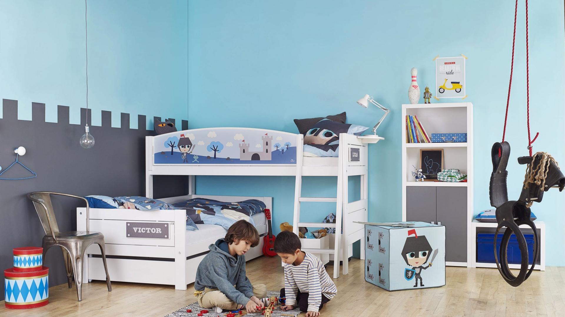 44077c356f567f Niebieski to uniwersalny kolor, który sprawdzi się zarówno w pokoju syna,  jak i córki