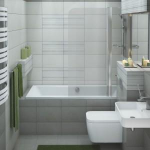 Parawan nawannowy to kompromis, dla tych którzy po mimo małej przestrzeni w łazience chcą posiadać jednocześnie wannę i kabinę. Na zdjęciu: parawan dostępny w ofercie marki Excellent. Fot. Excellent.