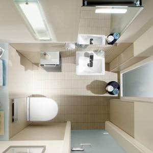 W małej łazience powinniśmy dobrze zaplanować rozmieszczenie poszczególnych sprzętów. Na zdjęciu: kolekcja Subway dostępna w ofercie Villero&Boch. Fot. Villeroy&Boch.