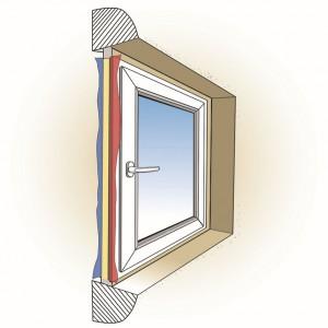 Prawidłowo wykonany montaż warstwowy, wykorzystujący: taśmy paroszczelne (warstwa wewnętrzna), pianę montażową lub taśmę  samorozprężną  (warstwa  środkowa)  oraz  taśmy  paroprzepuszczalne  (warstwa  zewnętrzna)  ogranicza  straty  ciepła i zapewnia ochronę warstwy izolacji termicznej przed działaniem wilgoci.