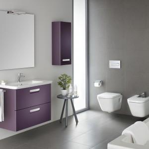 Meble z kolekcji Gap dostepne w trzech kolorach: białym, beżowym i fioletowym. Projekt Antonio Bullo. For. Roca.