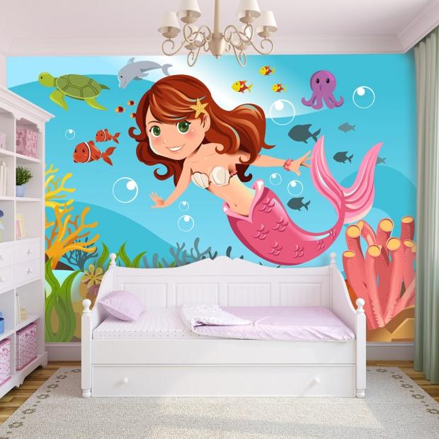 Ściana w pokoju dziecka. Najfajniejsze tapety dla dziewczynek i chłopców