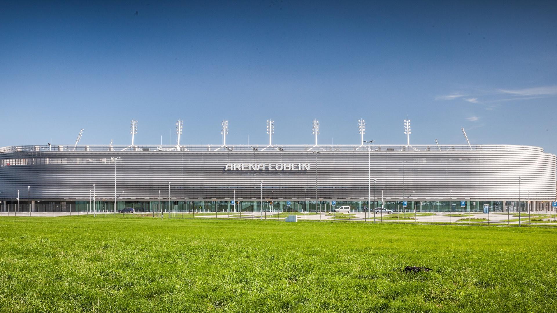 Stadion miejski Arena Lublin, na którym odbędzie się Studio Dobrych Rozwiązań. Zapraszamy 12 maja. Fot. Arena Lublin.